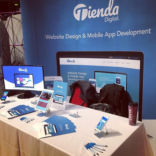 Tienda Digital Stand at Lancashire Business Expo 2018