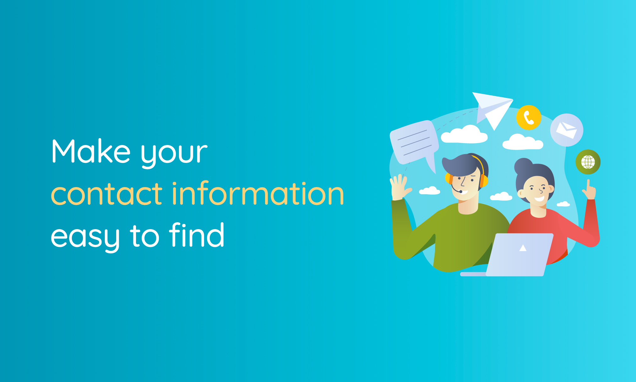 Make your contact info easy to find to get more website leads